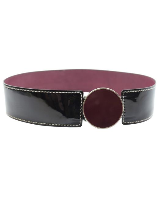 4edd78f6914e By Malene Birger - Purple Burgundy Patent Leather Belts - Lyst ...
