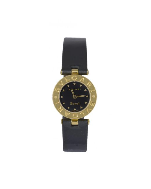 BVLGARI - Black Pre-owned B.zero1 Yellow Gold Watch - Lyst