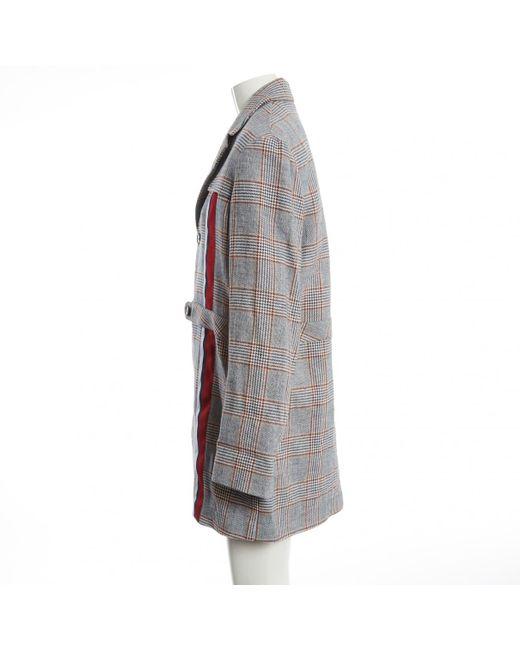 Jean Stella Gray Owned Grey Pre Coats In Linen Lyst j34RqScLA5