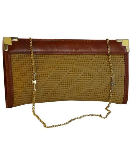 189fd971bf Lyst - Sac à main en cuir Hermès en coloris Neutre
