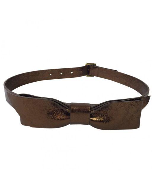 Chloé - Metallic Leather Belts - Lyst