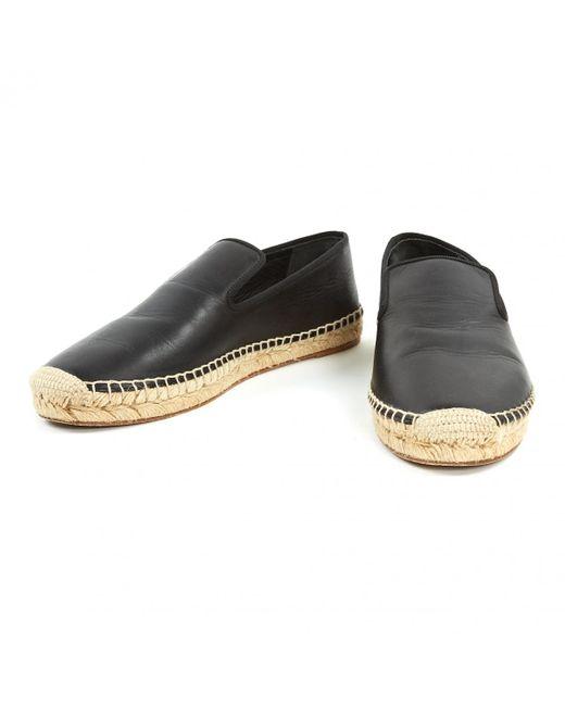 2ca45e1a1e2 ... Céline - Pre-owned Black Leather Espadrilles - Lyst ...