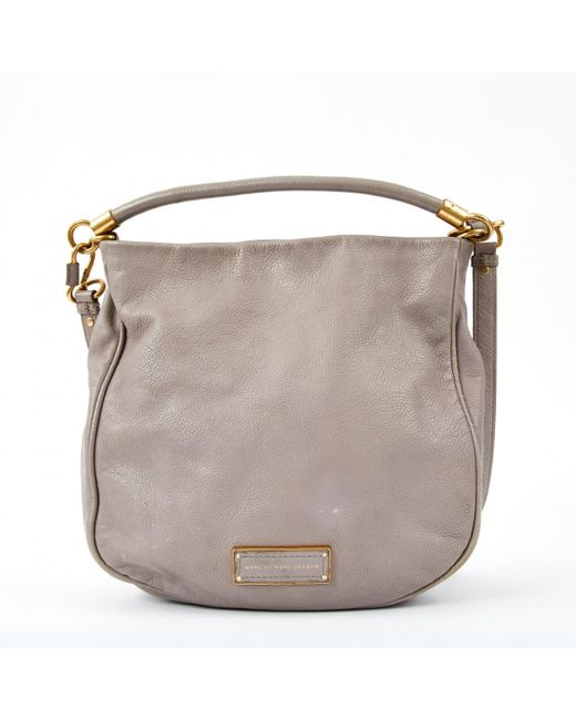 Marc By Marc Jacobs - Gray Classic Q Leather Bag - Lyst