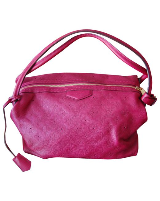 Louis Vuitton | Pink Pre-owned Mahina Leather Handbag | Lyst