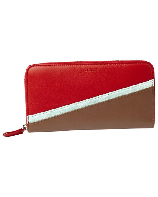 Jil Sander - Red Pre-owned Multicolour Leather Wallets - Lyst