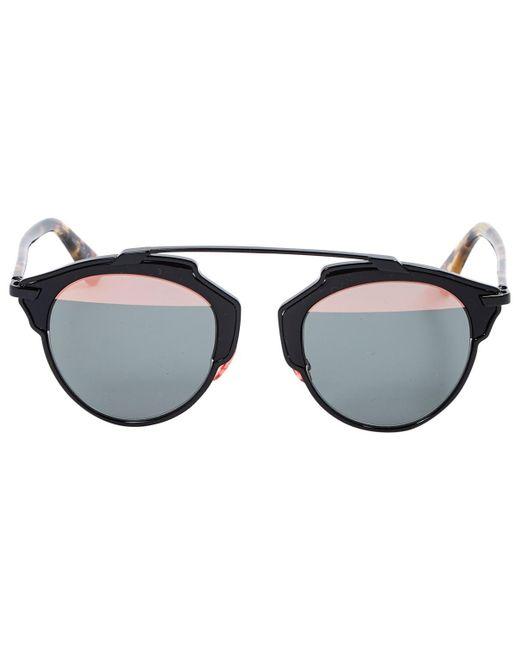 6ec61041e1e Lyst - Dior So Real Black Metal Sunglasses in Black - Save 34%
