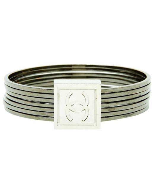 Chanel | Metallic Pre-owned Silver Metal Bracelet | Lyst