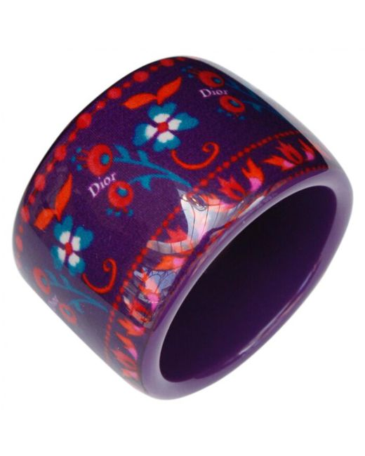 Dior - Pre-owned Purple Plastic Bracelet - Lyst