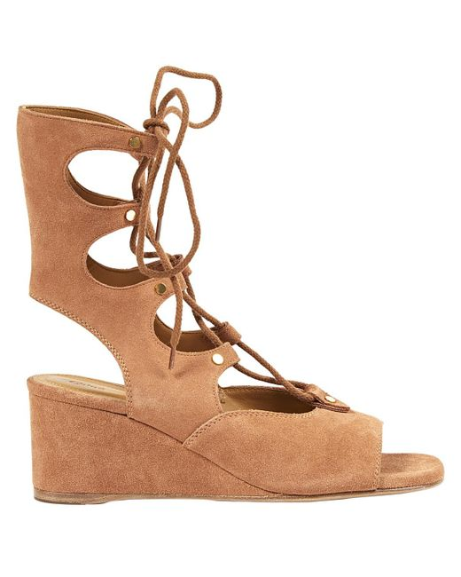 Chloé - Brown Pre-owned Sandals - Lyst