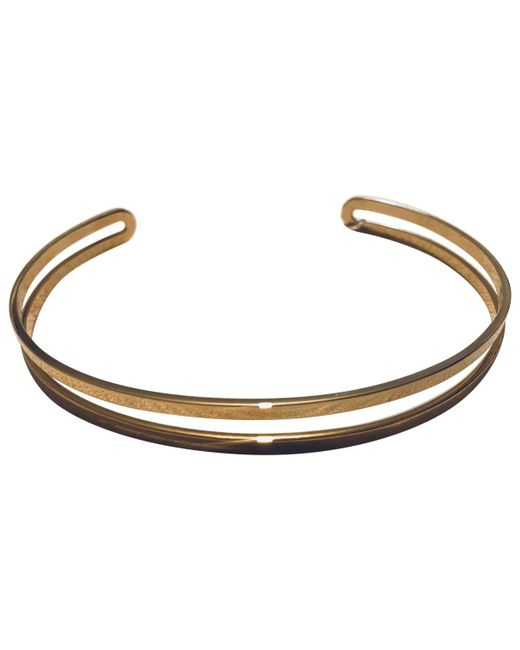 Maison Margiela - Metallic Gold Metal Necklace - Lyst
