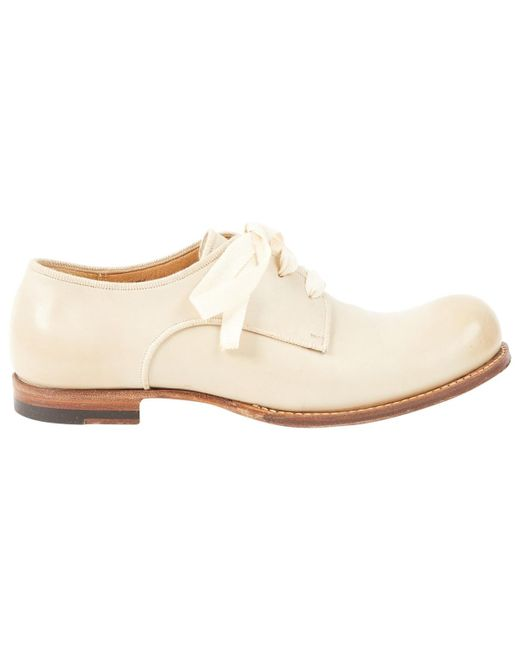 Jil Sander - Natural Pre-owned Leather Flats - Lyst