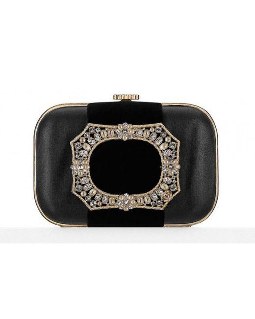 Chanel - Black Cloth Clutch Bag - Lyst