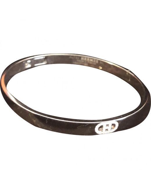 Hermès - Pre-owned Chaîne D'ancre White Gold Bracelet - Lyst