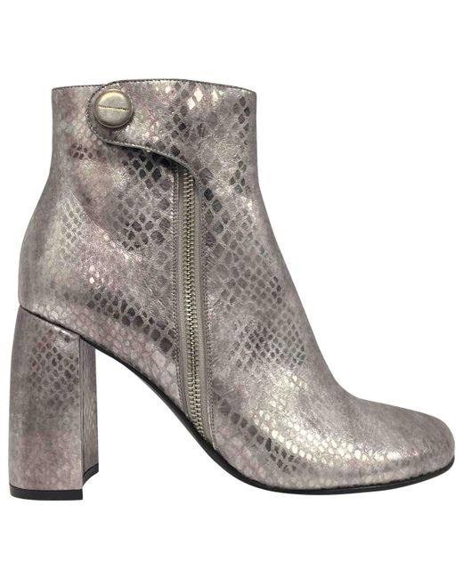 Stella McCartney - Metallic Ankle Boots - Lyst
