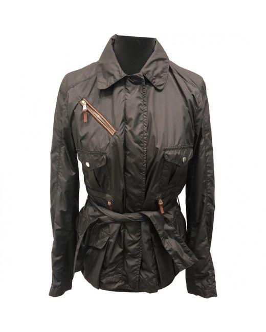 Moncler - Black Polyester Jacket - Lyst