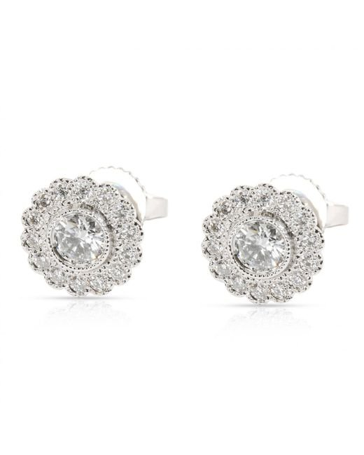 93905a9e6 Tiffany & Co. Other Platinum Earrings in Metallic - Lyst