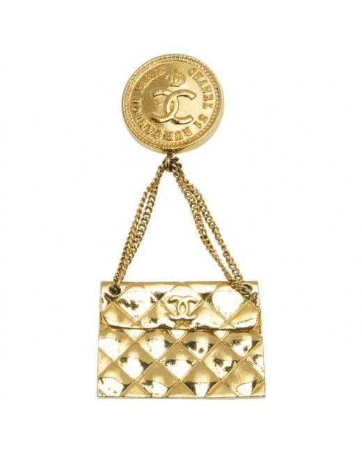 Chanel - Metallic Timeless Cambon Brooch - Lyst