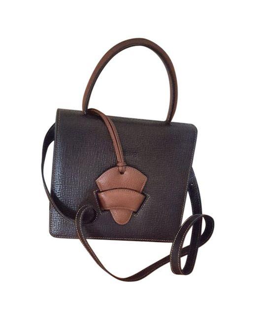 Loewe - Black Pre-owned Barcelona Leather Handbag - Lyst