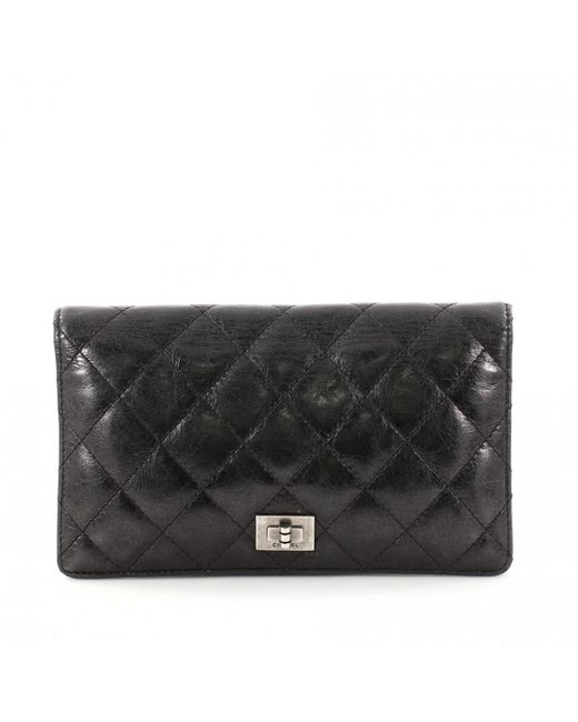 ... Vestiaire Collective  competitive price 6fe6a 8fc93 Chanel - Black  Leather Clutch Bag - Lyst ... ab5b3041542dd