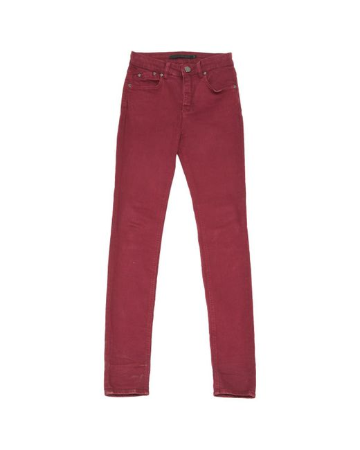 Victoria Beckham - Red Slim Jeans - Lyst