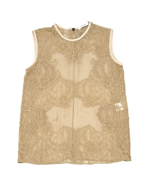 Givenchy - Natural Pre-owned Silk Top - Lyst