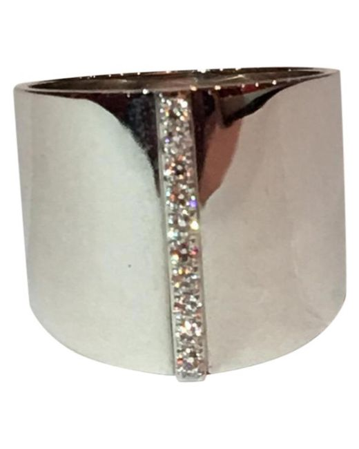 Messika - Gray Pre-owned White Gold Ring - Lyst