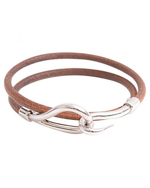 Hermès | Brown Pre-owned Jumbo Leather Bracelet | Lyst