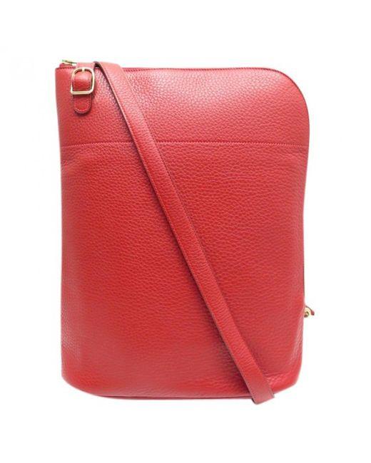 Hermès - Red Leather Crossbody Bag - Lyst