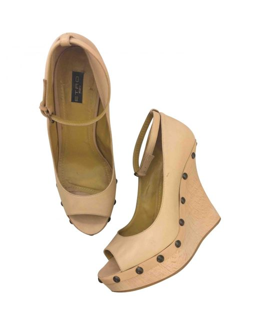 Pre-owned - Leather sandals Etro Q8RtW
