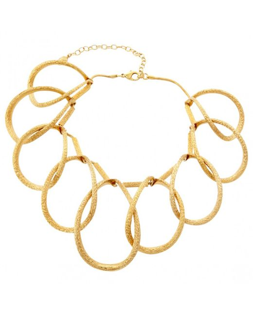 Dior - Metallic Gold Other Necklace - Lyst