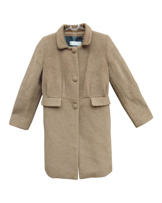 Golden Goose Deluxe Brand - Natural Wool Coat - Lyst