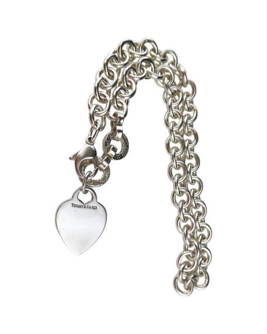 Tiffany & Co - Metallic Return To Tiffany Silver Necklace - Lyst