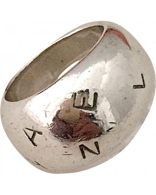 Chanel - Metallic Silver Ring - Lyst