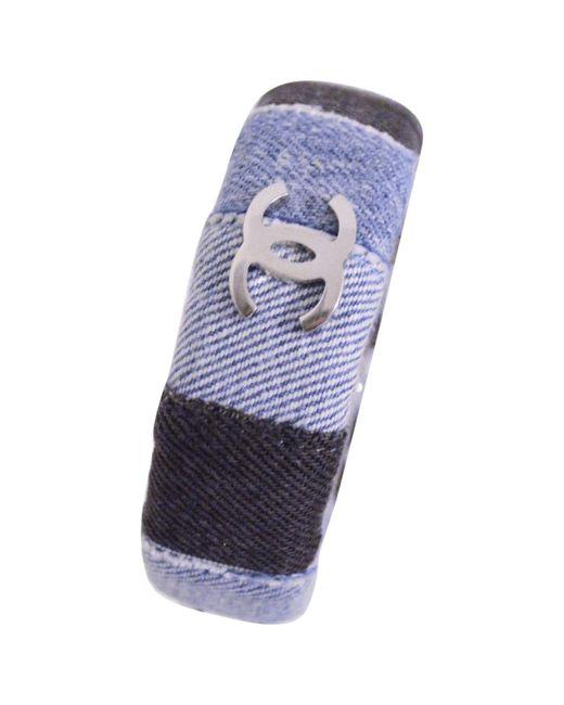 Chanel | Pre-owned Blue Metal Bracelet | Lyst