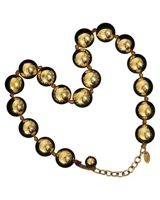 Chanel - Pre-owned Vintage Yellow Metal Necklace - Lyst