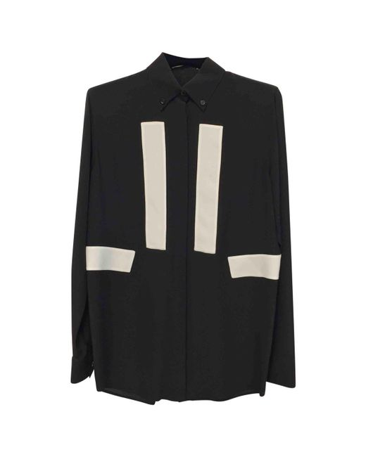 Givenchy - Black Pre-owned Silk Blouse - Lyst