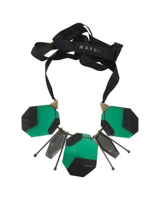 Marni - Green Pre-owned Horn Necklace - Lyst