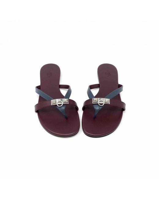 Hermès - Purple Tongs Corfou en cuir - Lyst
