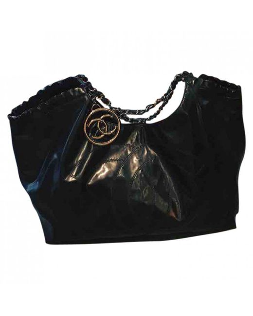 Chanel - Black Coco Cabas Patent Leather Tote - Lyst