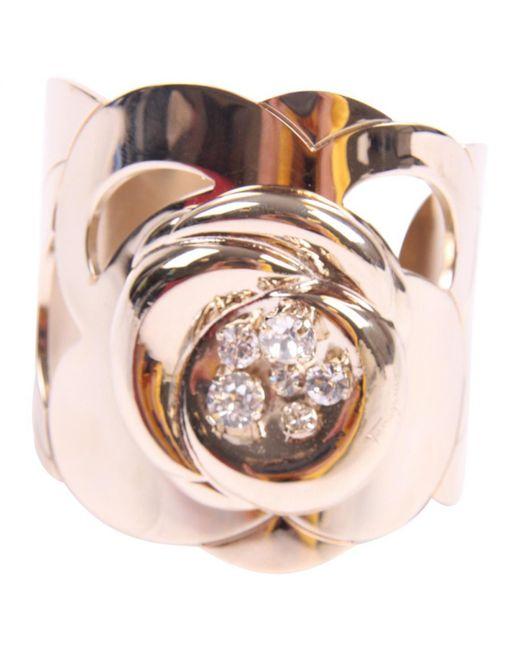 Ferragamo - Metallic Pre-owned Gold Metal Bracelet - Lyst