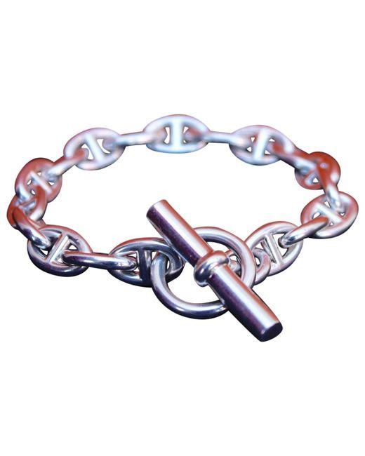 Hermès - Metallic Vintage Chaîne D'ancre Silver Silver Bracelets - Lyst