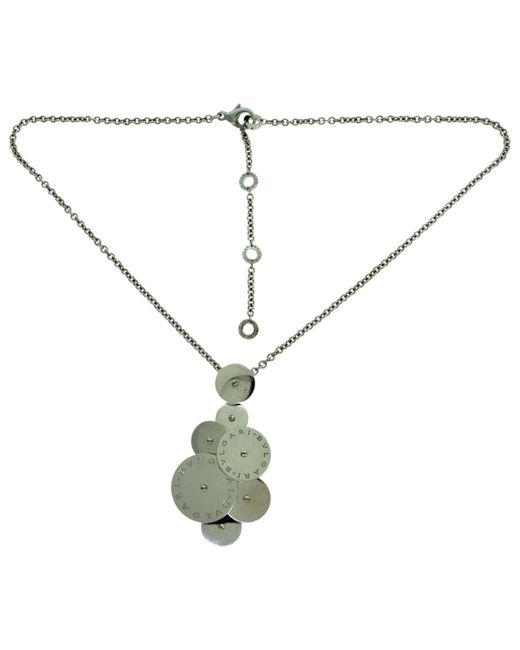 BVLGARI - Pre-owned Cicladi White Gold Necklace - Lyst