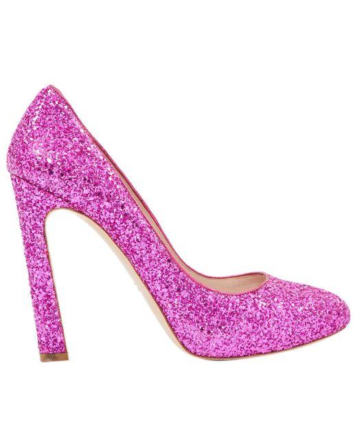 Miu Miu | Pink Pre-owned Glitter Heels | Lyst