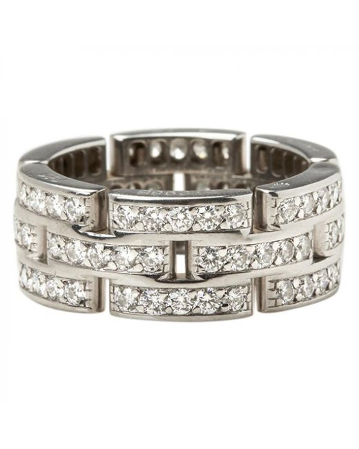 Cartier - Maillon Panthère White White Gold Ring - Lyst
