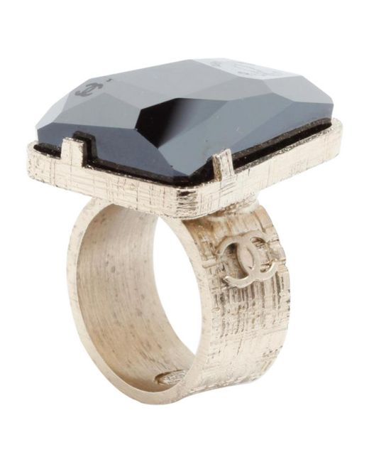 Chanel | Metallic Pre-owned Gold Metal Ring | Lyst