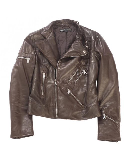 Ralph Lauren Collection - Brown Leather Jacket - Lyst