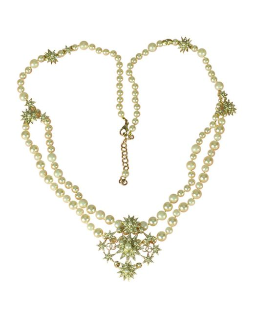 Chanel - White Pearl Necklace - Lyst