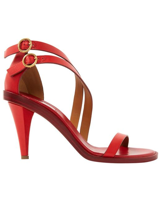 Chloé - Red Leather Niko Sandals - Lyst