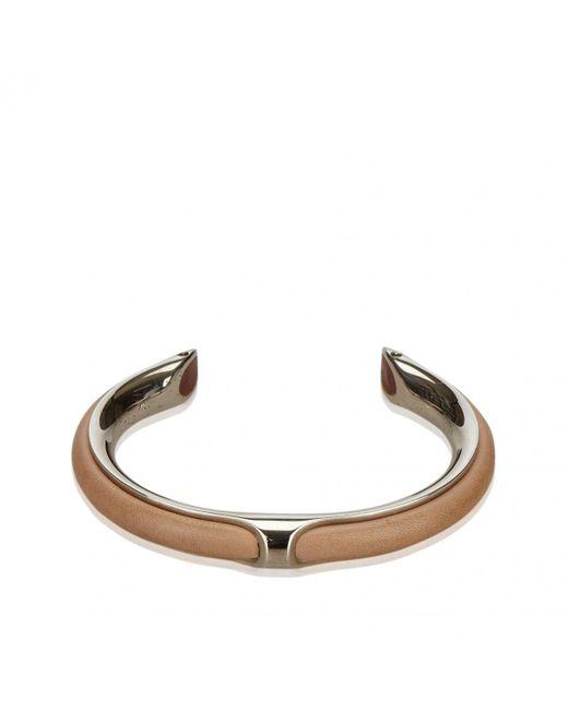 Hermès - Metallic Kyoto Silver Metal Bracelets - Lyst