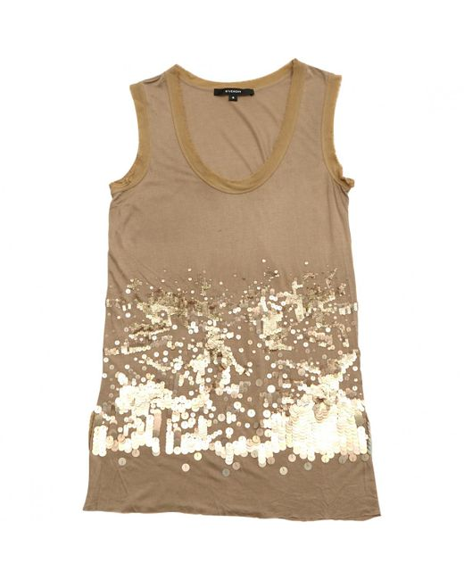 Givenchy - Natural Beige Viscose Top - Lyst